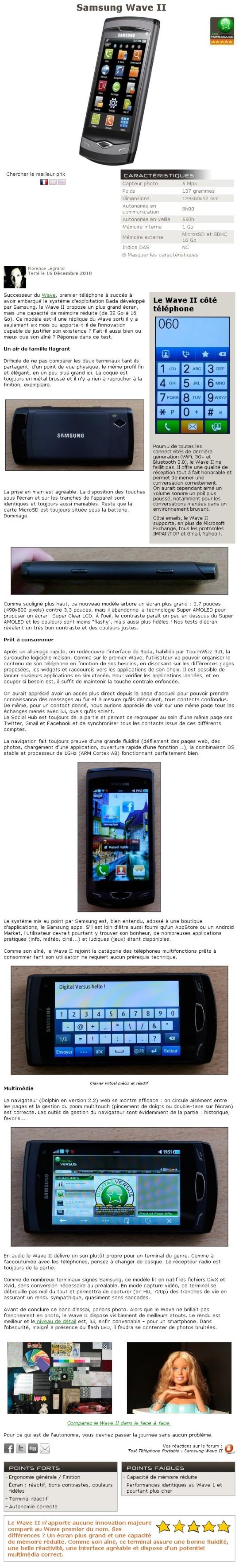 Test du Samsung Wave II Wave2