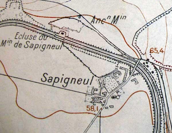 Plan de Sapigneul Sapigneul_plan