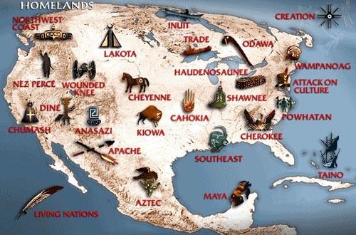Indijanske izreke, poslovice i priče Americanindiantribemap