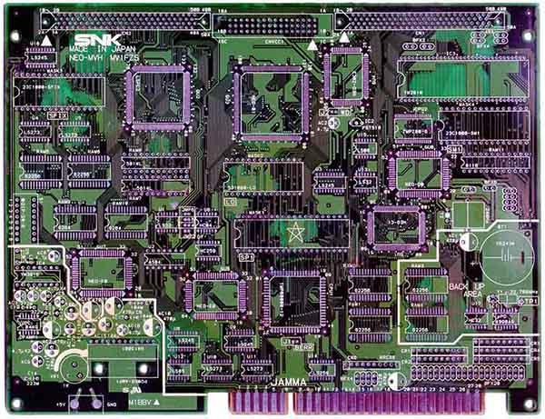 SCAN PCB NeoGeo MV1FZS - 600 DPI MV1FZS_Mini_Up