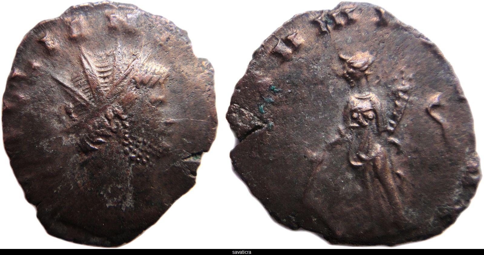 antoninien de Gallien pour Rome GALLIENVS-AVG-FORTVNA-REDVX-S
