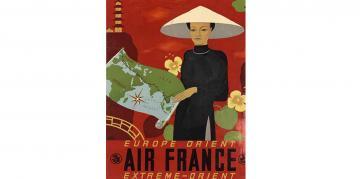 L'Indochine, une destination exotique pour le corps expéditionnaire français en partance pour Saïgon… des dizaines de milliers de soldats embarqués pour aller défendre l'Annam, le Laos, la Cochinchine, le Cambodge et le Tonkin. Europe-orient-airfrance_0