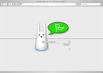 Petite interface web PHP pour votre Lapin... Ecran-interface