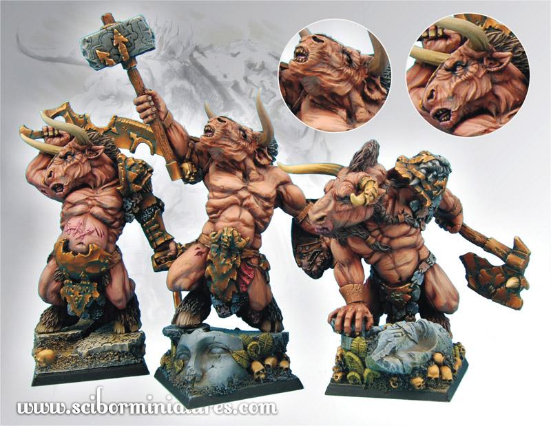 Scibor's Monstrous Miniatures Minotaurs_set_03