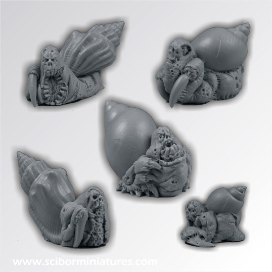 Scibor's Monstrous Miniatures Snail_set_01