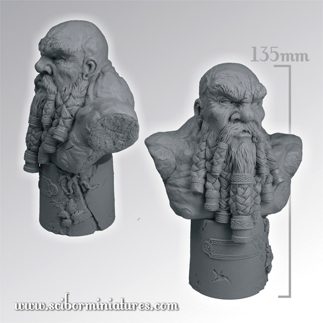 Scibor's Monstrous Miniatures Dwarf_warrior_bust_01