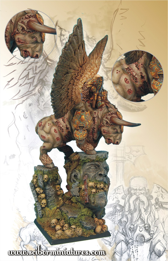 Scibor's Monstrous Miniatures War_bull_painted_04