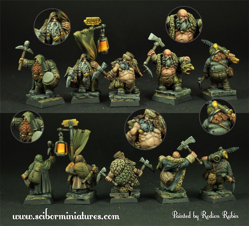"""Saga of Dumin """"Goblin splitter"""" Stromnisson Dwarves_miners_set3_p01"""