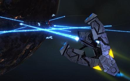 Les vaisseaux de Starfleet - Page 2 Season_6_Tholian_Vs_Freighter-t