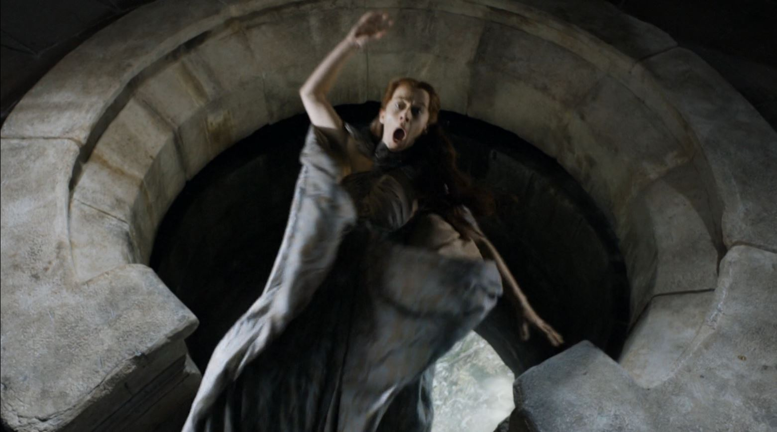 Game of Thrones - Episodes - Discussion - *Sleuthing Spoilers*  - Page 3 Game-Of-Thrones-S4Ep7-Mockingbird-Review-Kate-Dickie-as-Lysa-Arryn-thrown-out-of-the-moon-door