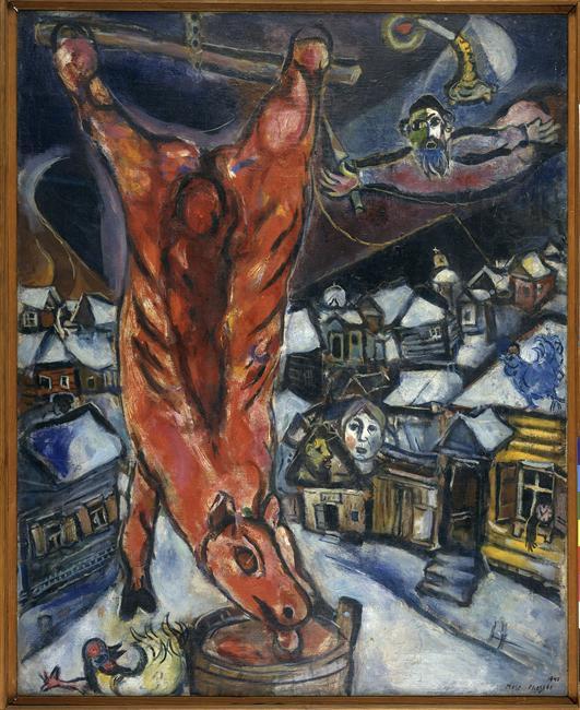 Boeufs écorchés (crucifixions détournées) Chagall-boeuf-ecorche