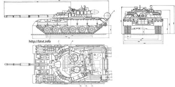 Т-80У («Объект 219АС») - основной боевой танк FbAMK