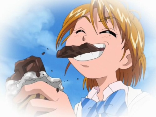 "انمي مع اكل يم يمي "" Nagisa-chocolate-small"