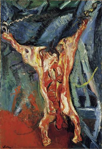 Boeufs écorchés (crucifixions détournées) Chaim-soutine-boeuf-ecorche-1925