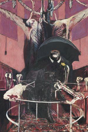 Boeufs écorchés (crucifixions détournées) Francis-bacon-painting-1946