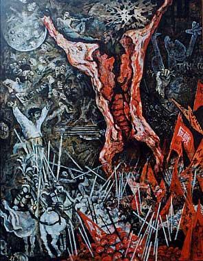 Boeufs écorchés (crucifixions détournées) Gilles-caron-le-boeuf-ecorche-dettaglio-1968