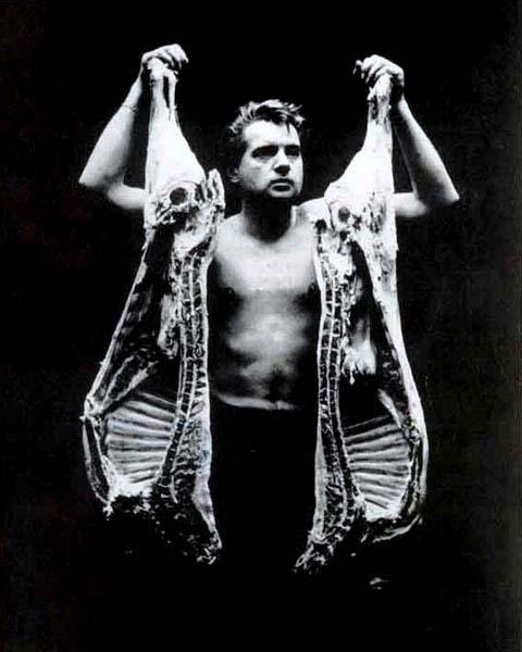 Boeufs écorchés (crucifixions détournées) John-deakin-bacon-with-meat-1960