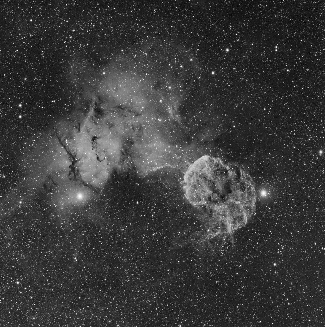 meduse - IC443 - La méduse en Ha Meduse_Ha_reduit