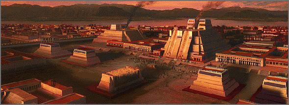 La civilisation aztèque Tenochtitlan