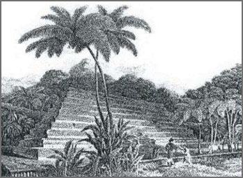 Ruines dans le pacifique Mahaiatea