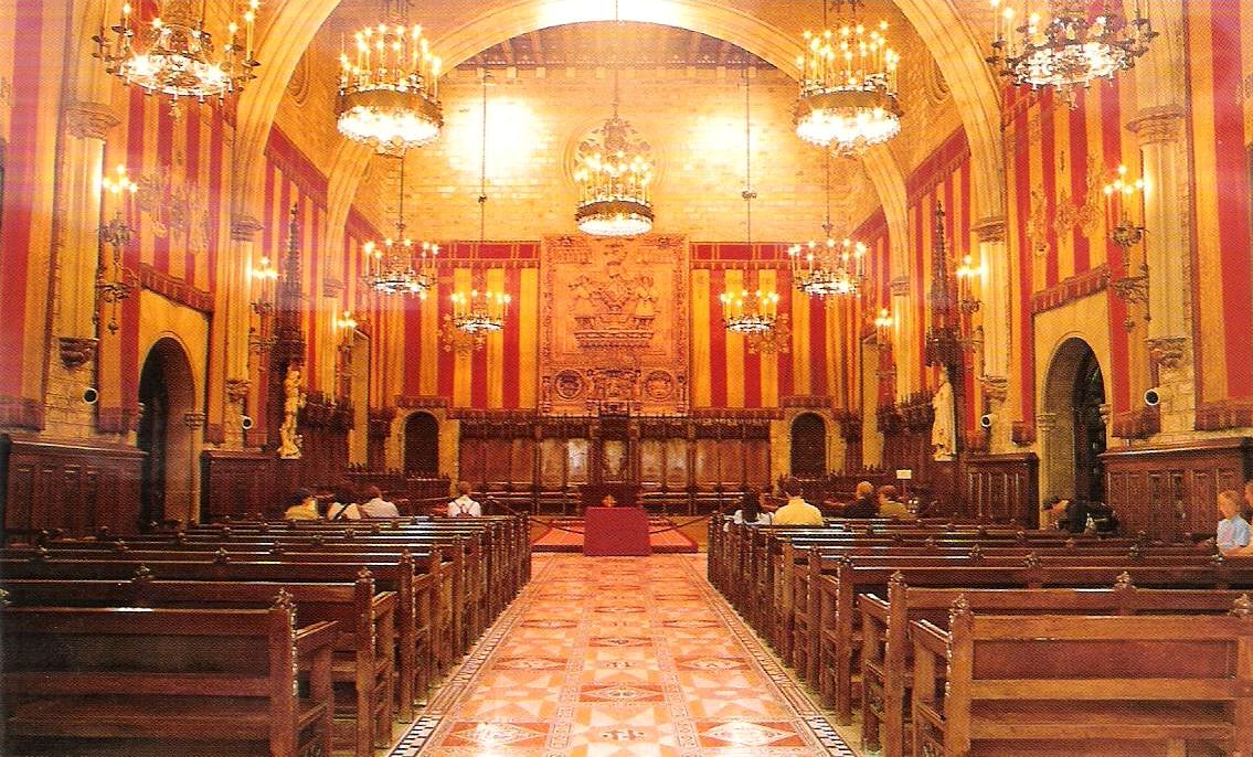 Campanya per la Restitució de les Senyeres del Saló de Cent Salodecent2001