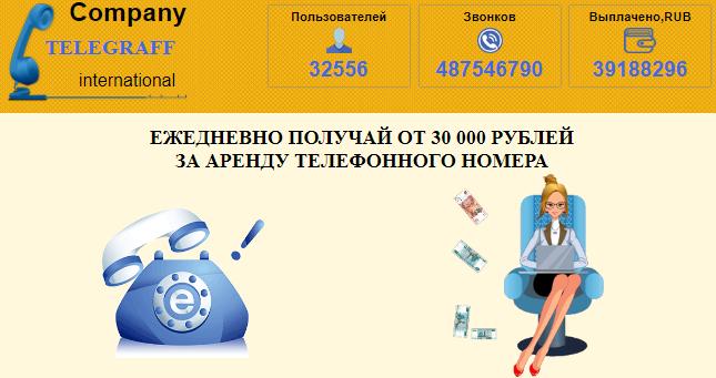 Отзывы Company TELEGRAFF international получайте от 30 000 рублей CaS1l