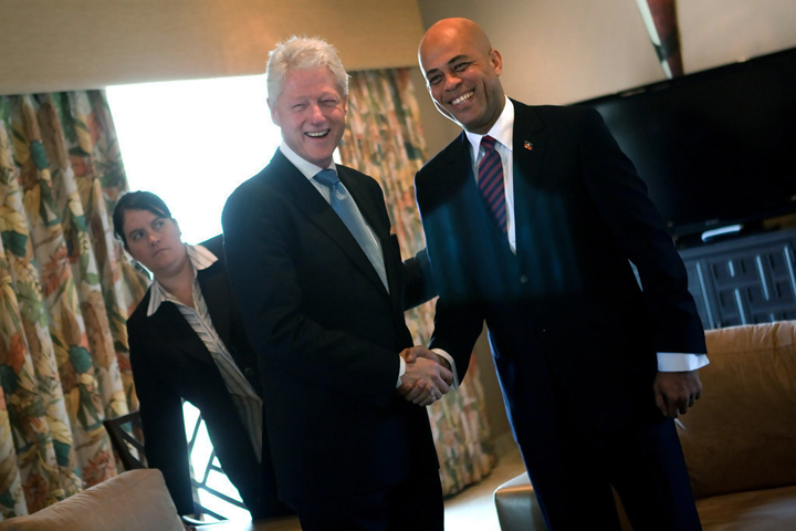 Haiti's constitutional horror show Bill_Clinton_Michel_Martelly_meet_prior_to_presidential_runoff_021511_by_Allison_Shelley_Getty_Images_South_America