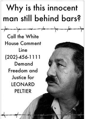 WARRIOR The Life of Leonard Peltier Demand-Freedom-and-Justice-for-Leonard-Peltier-poster