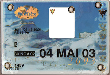 [Val d'Isère]Anciens forfaits Val Forfait2003
