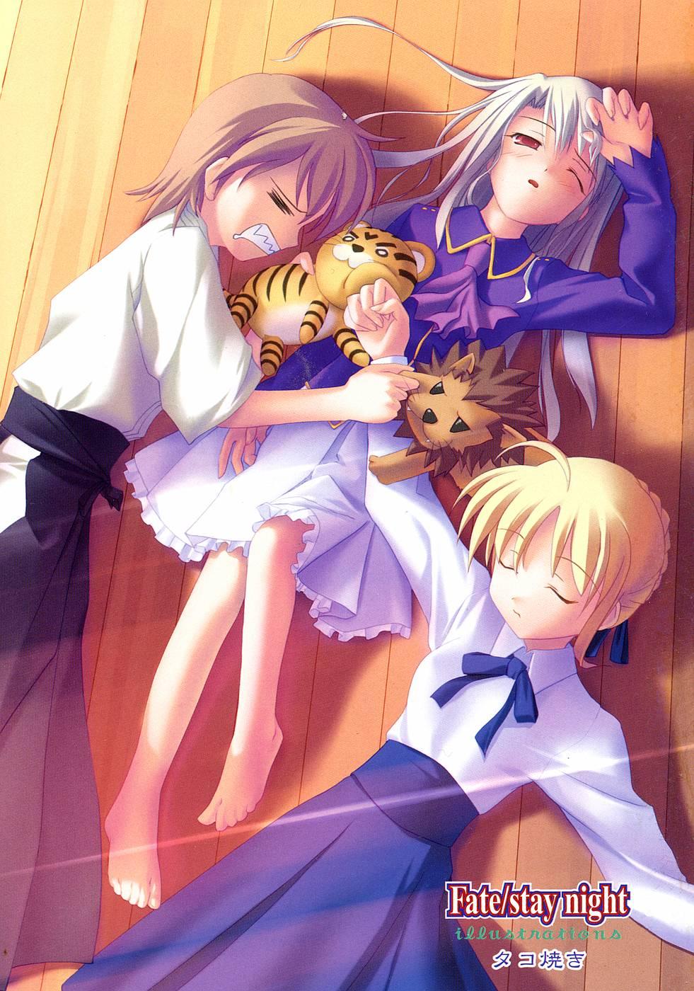 The Fate/Stay Night Image Thread! 1160%20-%20fate_stay_night%20feet%20fujimura_taiga%20illya_von_einzbern%20saber