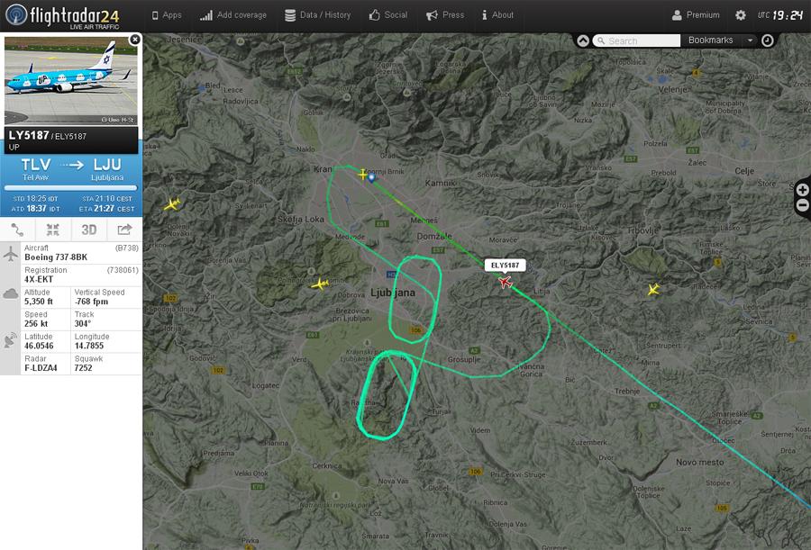 Zrakoplovi na letališču Brnik (Ljubljana) Ely2