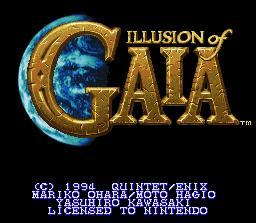 illusion of gaia - super nintendo Iogtitle