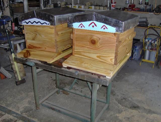 ruche dadant toits chalet Isse79
