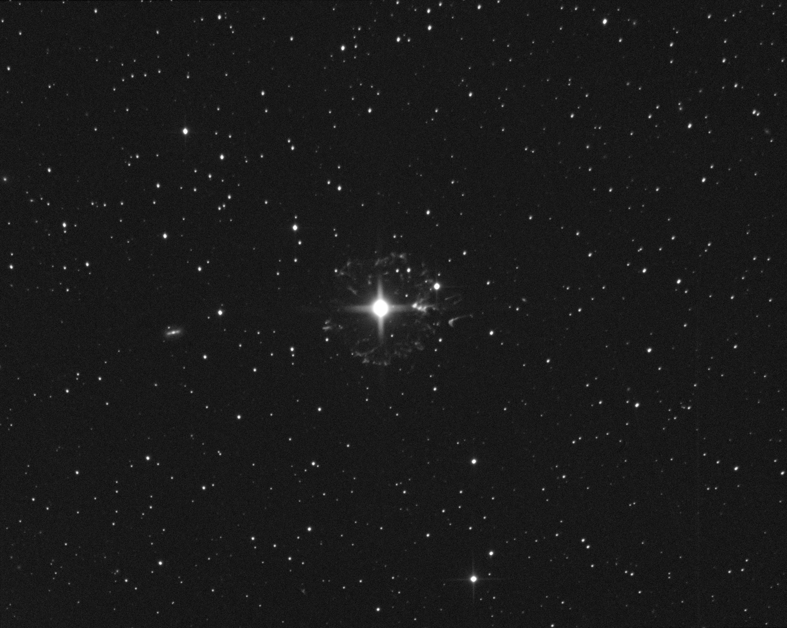 Le flocon du compte à rebours - NGC6543 N6543Ha_asinh