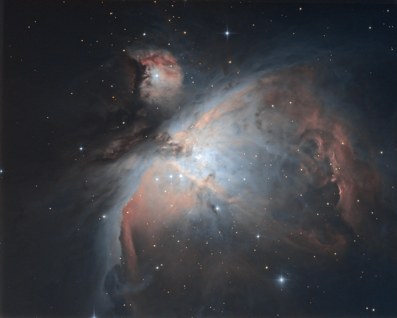 Fond de tiroir, images de crépuscule : M42  M42_2016et2021L_iris