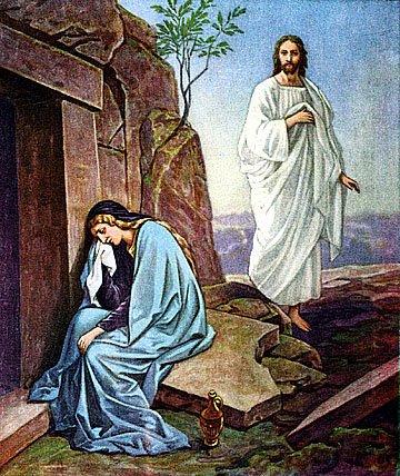 COV ZAJ NYEEM NRUAB LIS PIAM 2012 Resurrection-jesus-mary-magdalene
