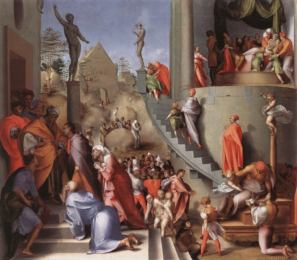 The United States of the Solar System, A.D. 2133 (Book Five) Joseph-with-jacob-in-egypt-pontormo-1518