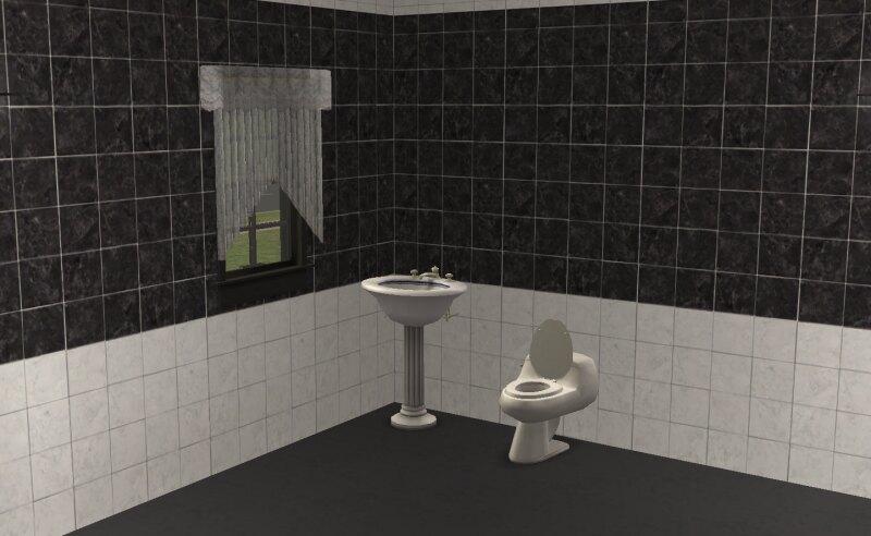 Black 'n' White Bathroom Tiles Tiles