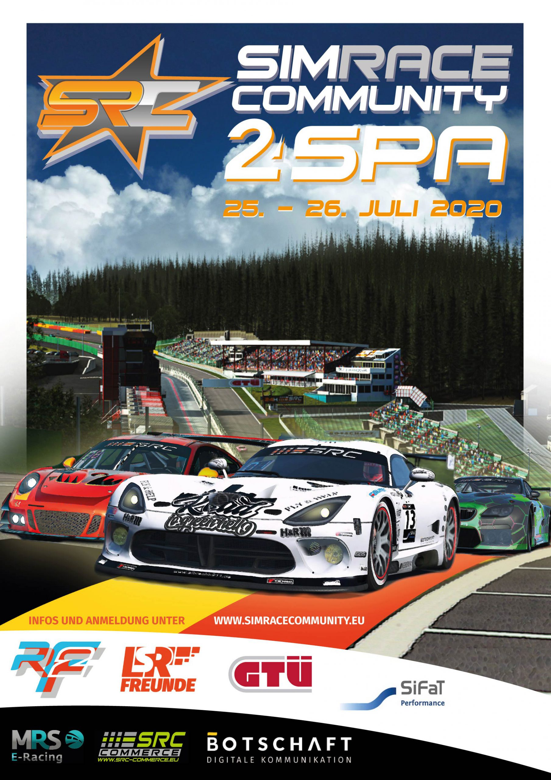 Not very historic but: 24H of Spa Francorchamps at rF2 Spa24h-2020-final-scaled