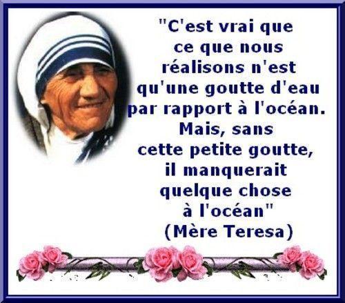 Michel blogue les 450 citations/Bienheureuse Mère Teresa de Calcutta/Navigation Libre/ 5bf47a26