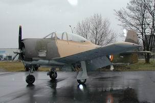 "North American T-28 "" Fennec "" Arrivee"