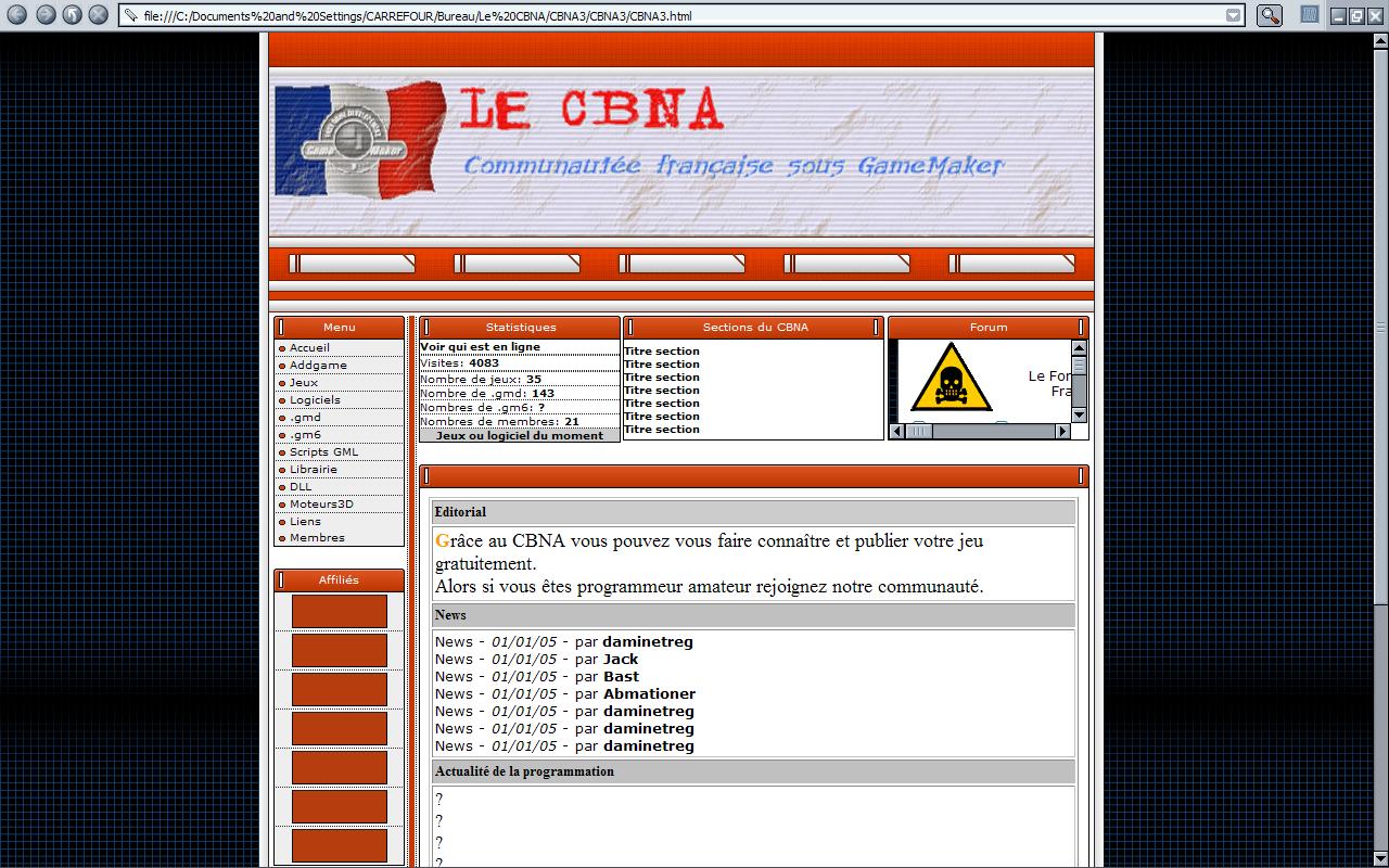 Infos Statut du Site... (Partie 1) CBNA2