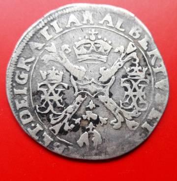 1/4 patagón (1612-1621). Alberto e Isabel. Tournai Pa9rF