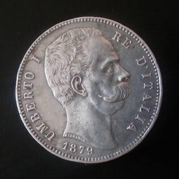5 liras Umberto I 1879 Italia 05qRk