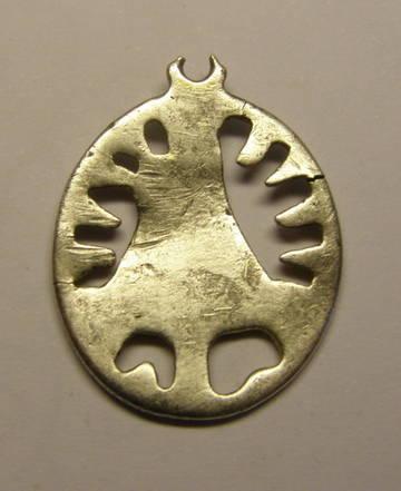 Medalla de ventana de la Virgen del Pilar, plata sobredorada. 6LqOM