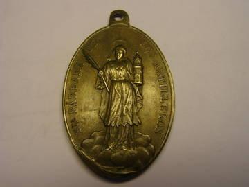Medalla de Santa Bárbara de los artilleros. Año 1893. Uu1Hc