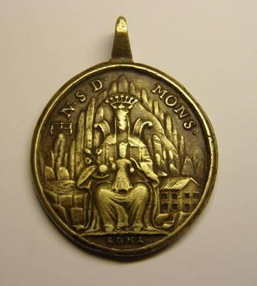 Medalla de gran formato de Nª Sª de Montserrat y San Benito, (R.M. SXVIII-O357) WwKIB