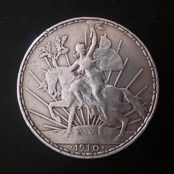 "1 peso Mejico 1910 ""El caballito"" AI2qT"