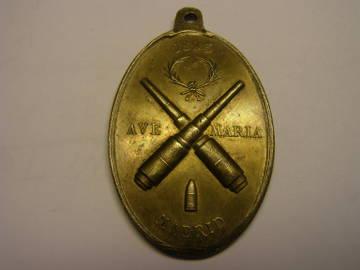 Medalla de Santa Bárbara de los artilleros. Año 1893. Ry8na