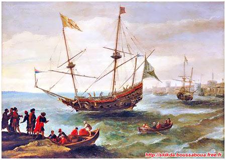 البحرية الجزائرية بين الماضي و الحاضر Corsaire_algerien_navire_1632_ave